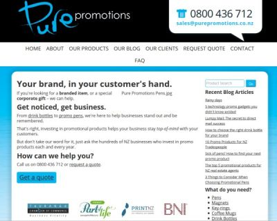 Pure Promotions Promotional Products Tauranga