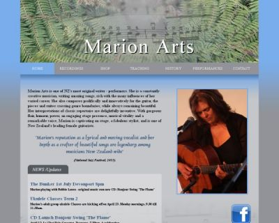 Marion Arts Web Site Design by JeRo in Tauranga